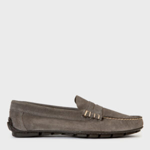 zapatos loafer grises